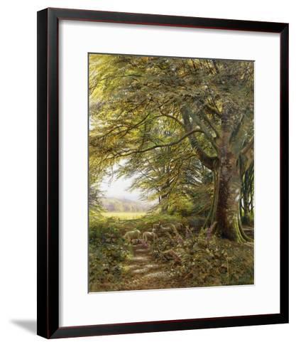 A Wooded Landscape with Foxgloves-Edmund George Warren-Framed Art Print