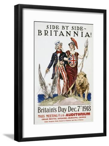 Side by Side - Britannia! Poster-James Montgomery Flagg-Framed Art Print