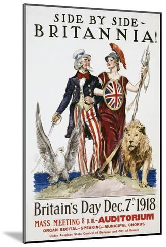 Side by Side - Britannia! Poster-James Montgomery Flagg-Mounted Giclee Print
