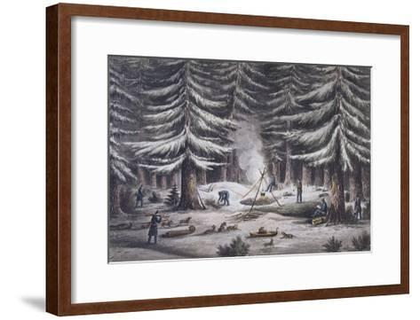 Manner of Making a Resting Place on a Winter's Night-Edward Finden-Framed Art Print