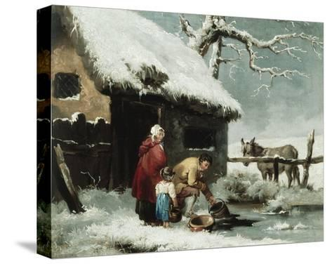 Breaking the Ice-George Morland-Stretched Canvas Print