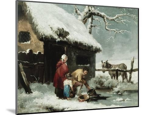 Breaking the Ice-George Morland-Mounted Giclee Print