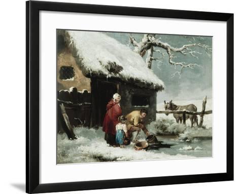 Breaking the Ice-George Morland-Framed Art Print