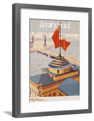 Leningrad Travel Poster-B. Zelensky-Framed Art Print