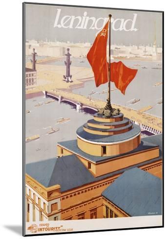 Leningrad Travel Poster-B. Zelensky-Mounted Giclee Print