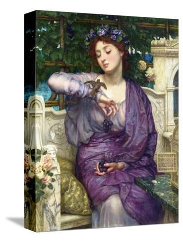 Lesbia and Her Sparrow-Edward John Poynter-Stretched Canvas Print