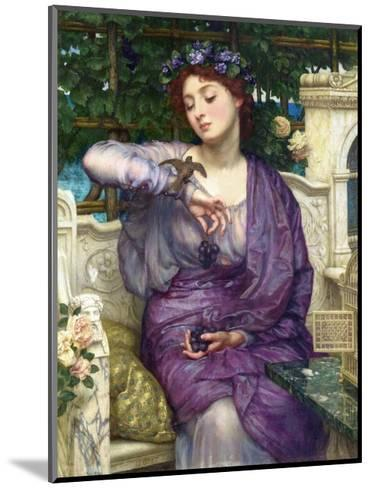 Lesbia and Her Sparrow-Edward John Poynter-Mounted Giclee Print