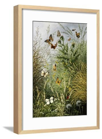 The Butterflies' Haunt (Dandelion Clocks and Thistles)-William Scott Myles-Framed Art Print