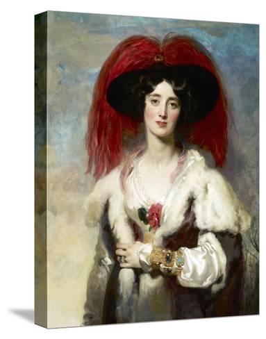 Julia, Lady Peel-Thomas Lawrence-Stretched Canvas Print