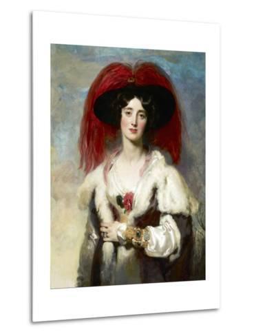Julia, Lady Peel-Thomas Lawrence-Metal Print