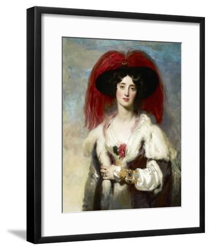 Julia, Lady Peel-Thomas Lawrence-Framed Art Print