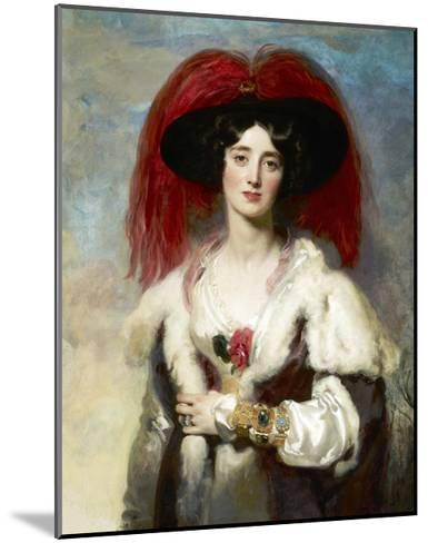 Julia, Lady Peel-Thomas Lawrence-Mounted Giclee Print
