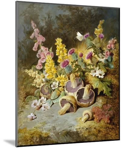 Still Life of Floxgloves, Mushrooms, Snapdragons, and Thistles-Thomas Worsey-Mounted Giclee Print