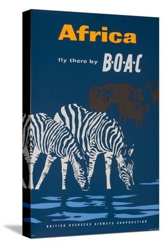 Africa: Fly There by Boac Travel Poster--Stretched Canvas Print