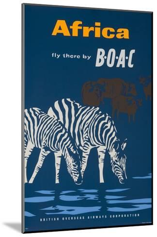 Africa: Fly There by Boac Travel Poster--Mounted Giclee Print