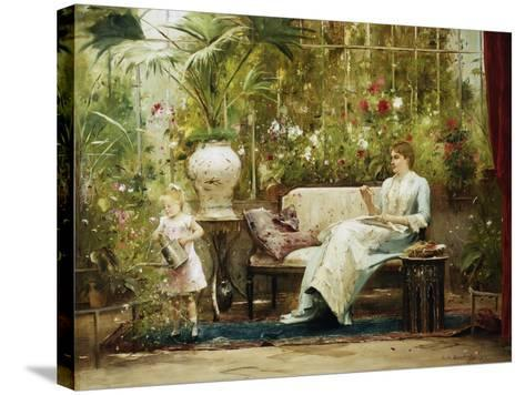 A Willing Helper-Mihaly Munkacsy-Stretched Canvas Print