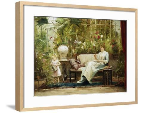 A Willing Helper-Mihaly Munkacsy-Framed Art Print