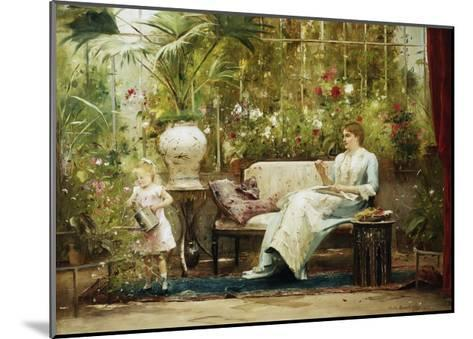 A Willing Helper-Mihaly Munkacsy-Mounted Giclee Print