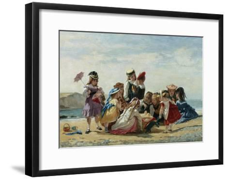 A Day at the Seaside-Timoleon Lobrichon-Framed Art Print