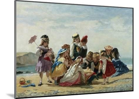 A Day at the Seaside-Timoleon Lobrichon-Mounted Giclee Print