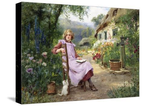 In the Garden-Yeend King-Stretched Canvas Print