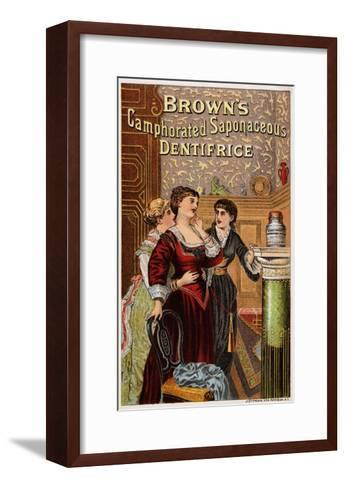 Brown's Camphorated Saponaceous Dentifrice Trade Card--Framed Art Print