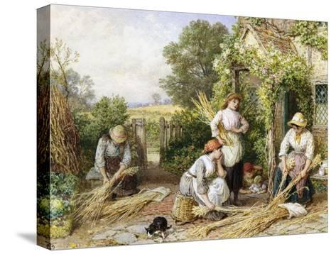 The Return of the Gleaners-Myles Birket Foster-Stretched Canvas Print