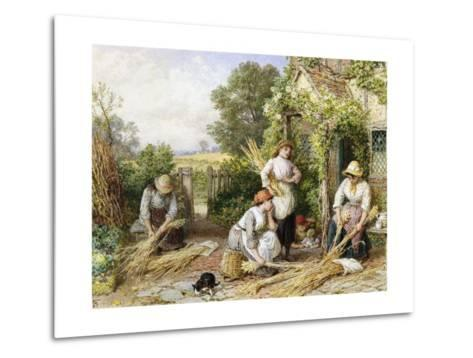 The Return of the Gleaners-Myles Birket Foster-Metal Print
