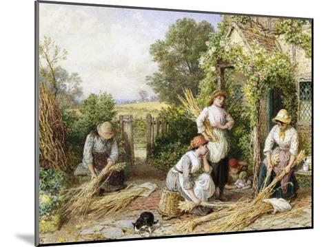The Return of the Gleaners-Myles Birket Foster-Mounted Giclee Print