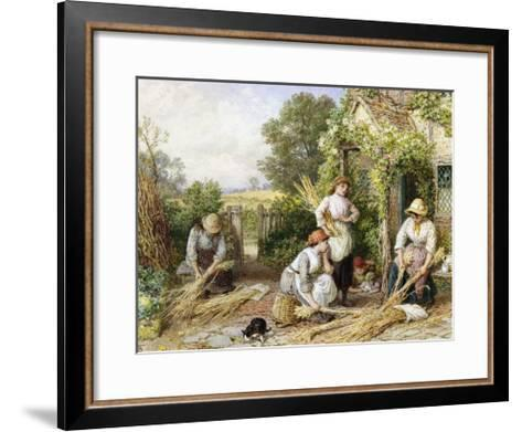 The Return of the Gleaners-Myles Birket Foster-Framed Art Print