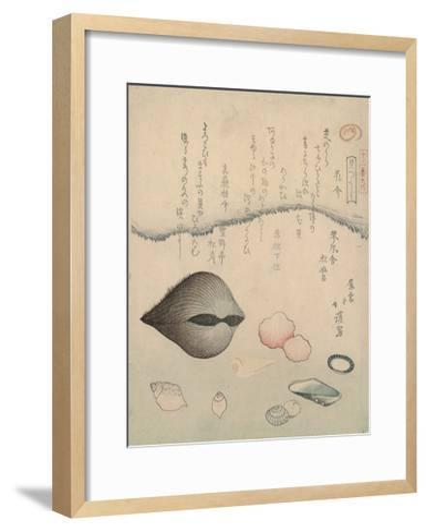 Aragai, Masu?gai, Anagai: Clams-Totoya Hokkei-Framed Art Print