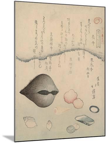 Aragai, Masu?gai, Anagai: Clams-Totoya Hokkei-Mounted Giclee Print