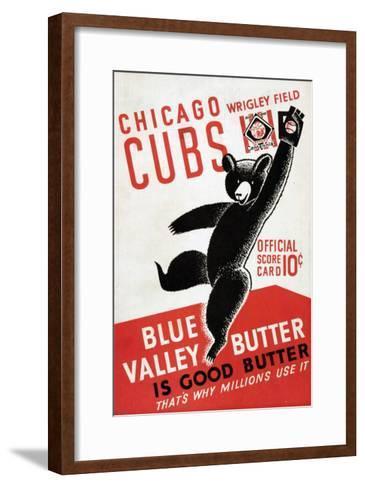 1939 Chicago Cubs Baseball Scorecard--Framed Art Print