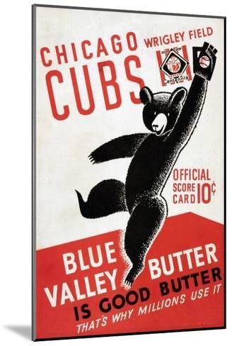 1939 Chicago Cubs Baseball Scorecard--Mounted Giclee Print