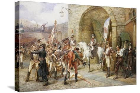 An Incident in the Peninsular War-Robert Alexander Hillingford-Stretched Canvas Print