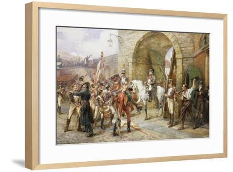An Incident in the Peninsular War-Robert Alexander Hillingford-Framed Art Print