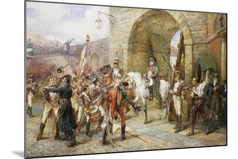An Incident in the Peninsular War-Robert Alexander Hillingford-Mounted Giclee Print