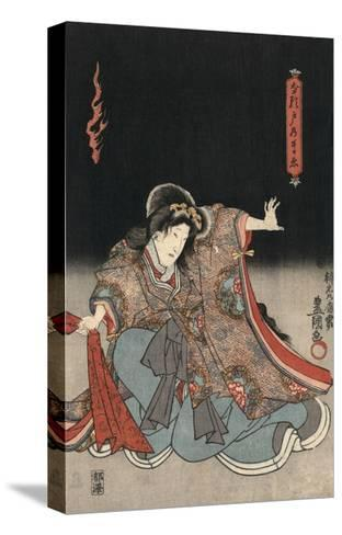 An Actor in the Role of Narutonomae-Utagawa Kunisada-Stretched Canvas Print