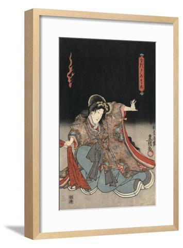 An Actor in the Role of Narutonomae-Utagawa Kunisada-Framed Art Print