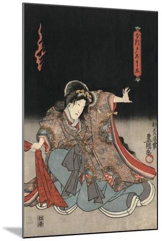 An Actor in the Role of Narutonomae-Utagawa Kunisada-Mounted Giclee Print