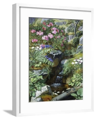 Alpine Flowers by a Stream-Otto Diderich Ottesen-Framed Art Print