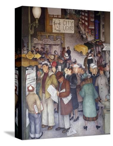 Detail of City Life-Victor Arnautoff-Stretched Canvas Print