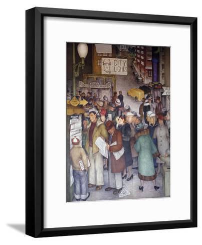 Detail of City Life-Victor Arnautoff-Framed Art Print