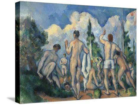 Baigneurs (Bathers)-Paul C?zanne-Stretched Canvas Print