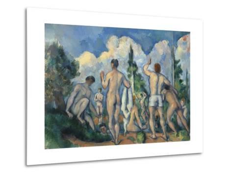 Baigneurs (Bathers)-Paul C?zanne-Metal Print