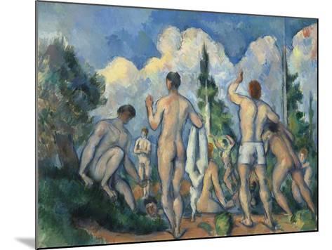 Baigneurs (Bathers)-Paul C?zanne-Mounted Giclee Print