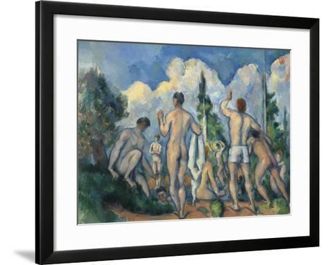Baigneurs (Bathers)-Paul C?zanne-Framed Art Print
