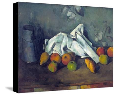 Bo?te ? Lait Et Pommes (Milk Can and Apples)-Paul C?zanne-Stretched Canvas Print