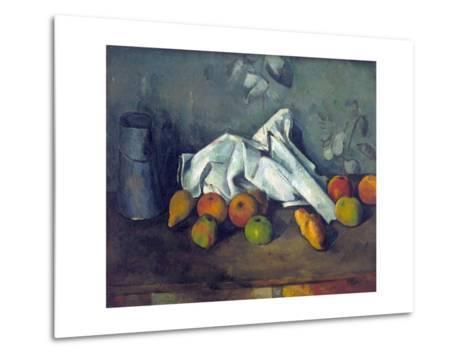 Bo?te ? Lait Et Pommes (Milk Can and Apples)-Paul C?zanne-Metal Print