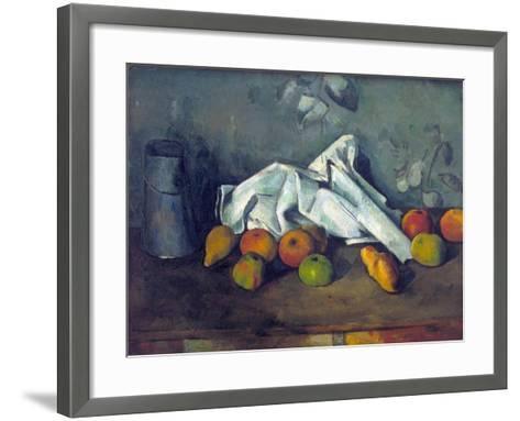 Bo?te ? Lait Et Pommes (Milk Can and Apples)-Paul C?zanne-Framed Art Print